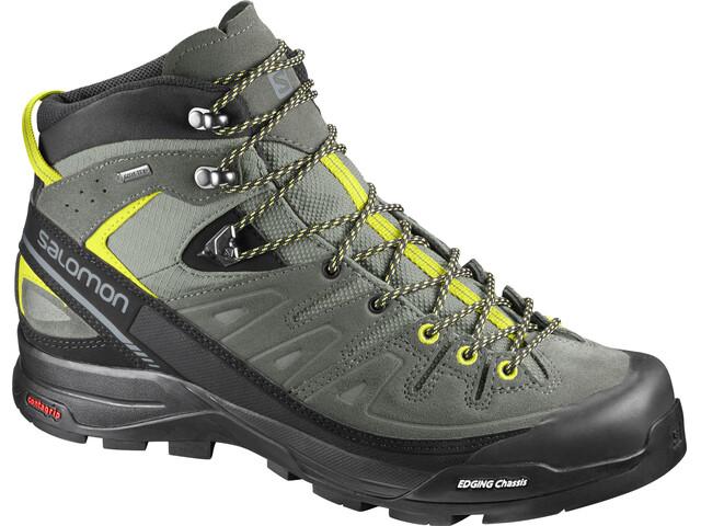 Salomon X Alp LTR GTX Mid Hiking Shoes Men Shadow/Castor Gray/Lime Punch